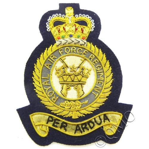 RAF Regiment Gold Bullion Blazer Badge