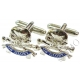 17th/21st Lancers Cufflinks (Metal / Enamel)