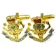 Queens Own Highlanders Cufflinks (Metal / Enamel)