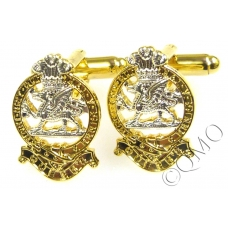 The Queens Regiment Cufflinks (Metal / Enamel)