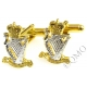 Royal Irish Rangers Cufflinks (Metal / Enamel)