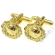 Royal Marines Cufflinks (Cap Badge Style) (Metal / Enamel)