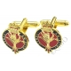 Welsh Guards Cufflinks (Metal / Enamel)
