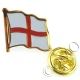 England / St.George Flag Lapel Pin Badge (Metal / Enamel)