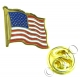 USA / Stars & Stripes Flag Lapel Pin Badge (Metal / Enamel)
