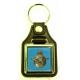 RAF Royal Air Force Leather Medallion Keyring
