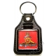 Royal Artillery Leather Medallion Keyring