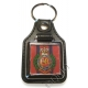 Royal Engineers Leather Medallion Keyring