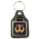 Royal Navy Diver Leather Medallion Keyring