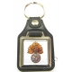 Royal Regiment Of Fusiliers Leather Medallion Keyring