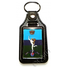 Royal Corps Of Signals Leather Medallion Keyring