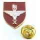 10th Btn The Parachute Regiment Shield Lapel Pin Badge (Metal / Enamel)