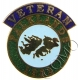 Falkland Islands Veterans Lapel Pin Badge