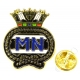 Merchant Navy Lapel Pin Badge (Metal / Enamel) Coloured