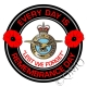 RAF Royal Air Force Remembrance Day Sticker