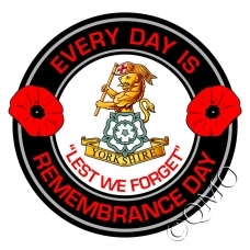 The Yorkshire Regiment Remembrance Day Sticker