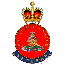 Royal Artillery HM Armed Forces Veterans Sticker