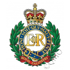 Royal Engineers Logo / Crest Sticker